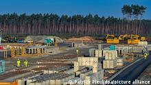 Deutschland Grünheide | Baustelle | Tesla Fabrik