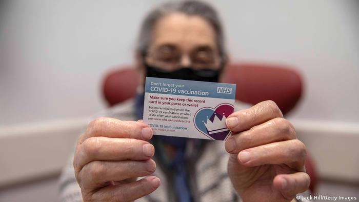 Campaña de vacunación en Reino Unido.