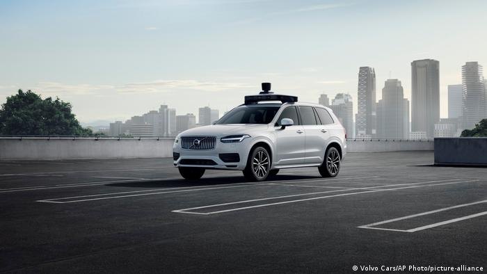 A self-driving car run by Uber