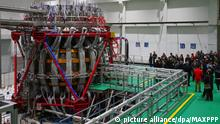 ©/MAXPPP - CHENGDU, CHINA - DECEMBER 04: The China's nuclear fusion device 'HL-2M' tokamak, nicknamed the 'Artificial Sun', achieves its first plasma discharge at the Southwestern Institute of Physics (SWIP) on December 4, 2020 in Chengdu, Sichuan Province of China. (Photo by VCG)