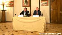 Russland PK Tino Chrupalla und Armin-Paulus Hampe nach Treffen mit Lawrow