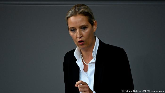 Cопредседателя фракции правопопулистской Альтернативы для Германии в бундестаге Алис Вайдель