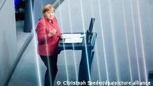 Deutschland Bundestag Merkel Haushaltsdebatte