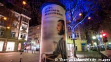 Deutschland Coronavirus Plakat Kontakte Reduzieren in Mannheim