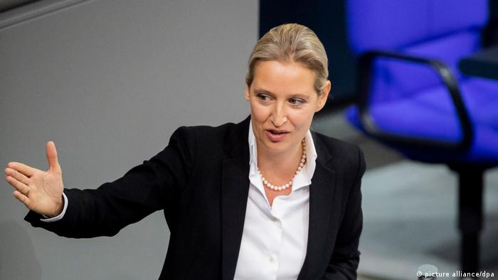 Alice Weidel speaking in the Bundestag