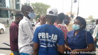 Angola Unterstützer der Partei PRA JA Servir Angola