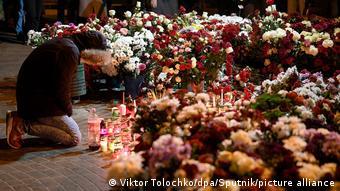 Народный мемориал в Минске в память о погибшем Романе Бондаренко