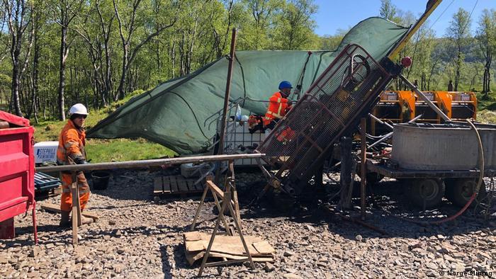 Bohrungsarbeiten in Norwegen | Firma Norge Mining | Start Bohrungen