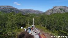 Геологоразведывательные работы на юго-западе Норвегии на месторождении фосфатов, титана и ванадия, фото из архива