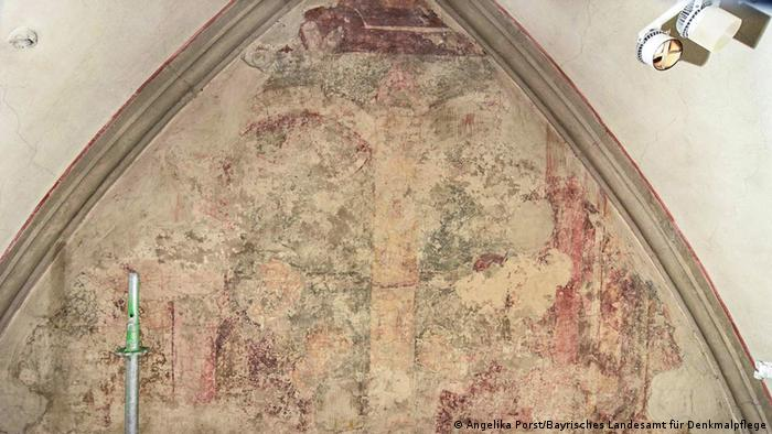 A 1,000-year-old mural in the Augsburg Cathedral