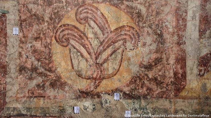 A portion of a 1,000-year-old mural discovered in the Augsburg Cathedral