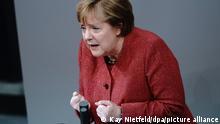 Deutschland l Bundestag, Haushaltswoche - Rede von Kanzlerin Merkel