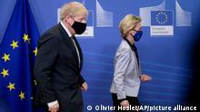 Belgien EU Brexit l EU-Kommissionspräsidentin von der Leyen und der Britische Premierminister Johnson