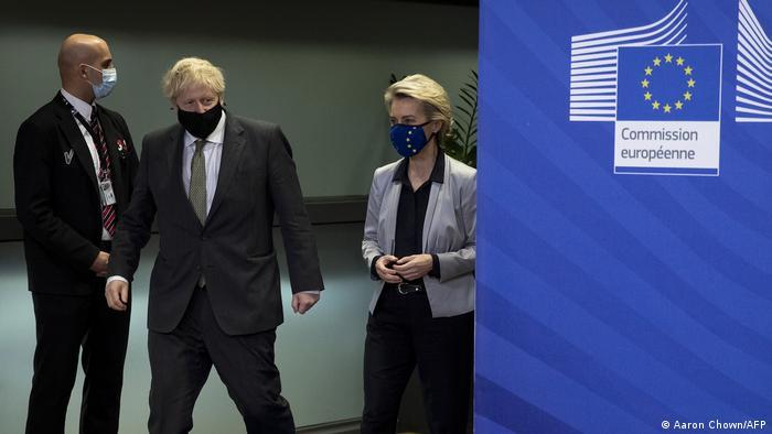 British PM Boris Johnson and European Commission president Ursula von der Leyen held talks on Wednesday.