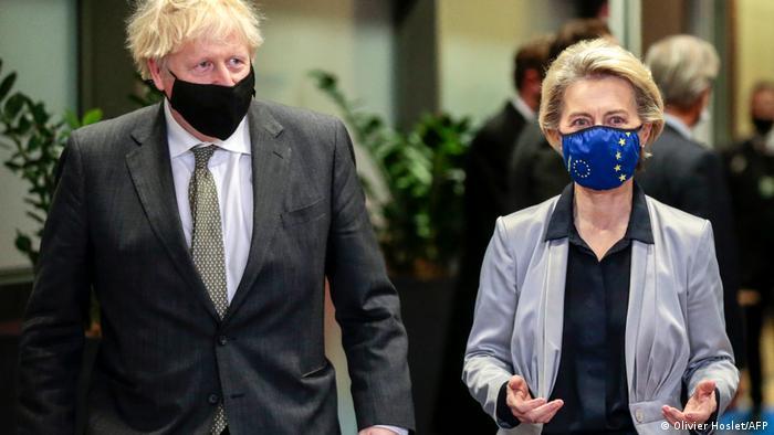 Премьер-министр Великобритании Борис Джонсон и глава Еврокомиссии Урсула фон дер Ляйен 9 декабря в Брюсселе