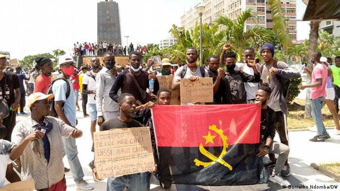 Protest in Luanda against unemployment in Angola