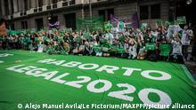 Argentinien Buenos Aires | Demonstration für das Recht auf Abtreibung
