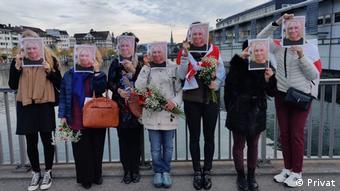 Акция в Цюрихе в поддержку осужденной в Беларуси Натальи Херше