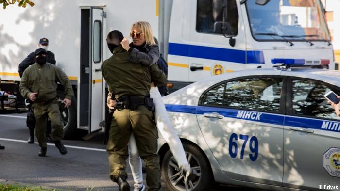 Задержание Натальи Херше в Минске, 19 сентября 2020 г.