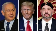 Bildcombo I Benjamin Netanyahu ,Donald Trump, König Mohammed VI