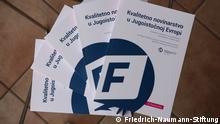 Buchcover Qualitätsjournalismus in Südosteuropa, von Thomas Brey Herkunft: Friedrich Nauman Stiftung, Belgrad © Friedrich-Naumann-Stiftung