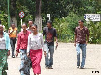 MStudenten auf dem Campus der Universität Addis Abeba