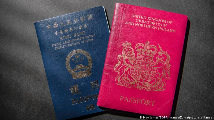 A Hong Kong passport alongside a British National Overseas (BNO) passport