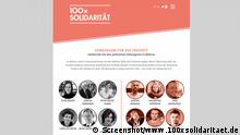 Screenshot I 100xsolidaritaet.de
