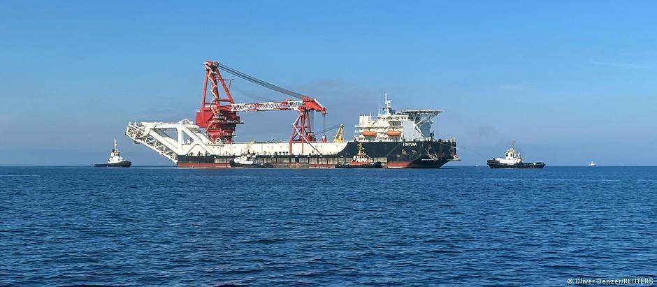 Nord Stream 2 | Bauarbeiten Ostsee-Gaspipeline |Verlegeschiff Fortuna