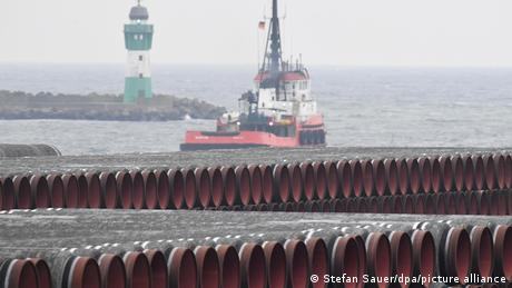 Nord Stream 2 construction in the German Baltic