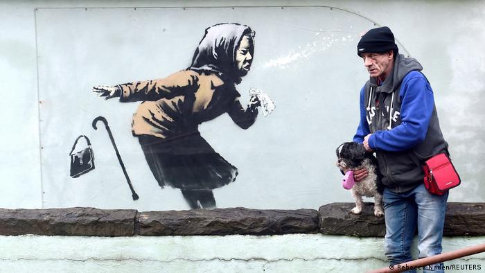 BdTD UK | Banksys neuer Kunstwerk 'Aachoo!!'