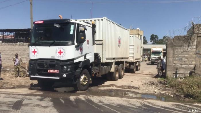 A convoy carries medical and relief supplies to the Tigray State capital, Mekelle