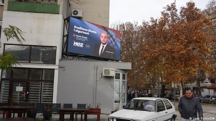 Bosnien und Herzegowina  Wahl in Mostar   Straßenansicht