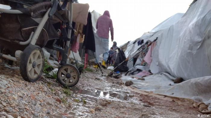 Griechenland Insel Lesbos |Flüchtlingsunterkunft Kara Tipe, Überschwemmung
