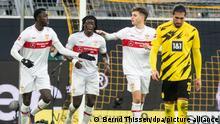 Fußball Bundesliga |Borussia Dortmund vs. VfB Stuttgart | Jubel Stuttgart