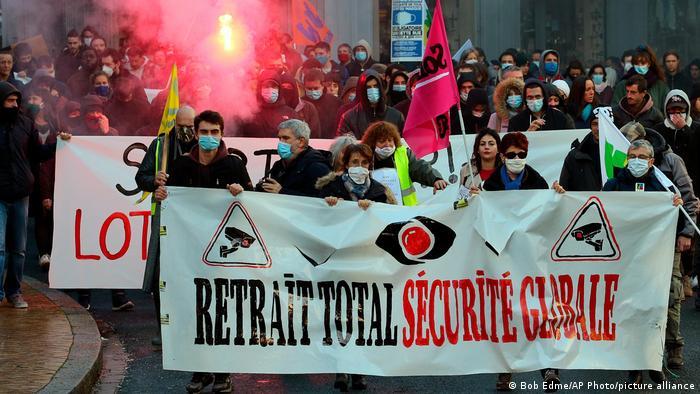 Foto de manifestantes en Paris