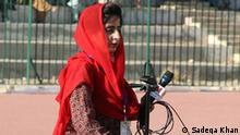 Pakistan Mehek Shahid, die erste weibliche Sportjournalistin von Belutschistan