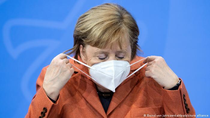 Deutschland Covid-19 | PK im Bundeskanzleramt Merkel