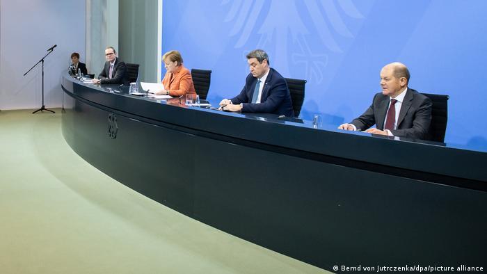 Deutschland Covid-19 | PK im Bundeskanzleramt