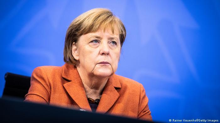 Deutschland Covid-19   PK im Bundeskanzleramt Merkel