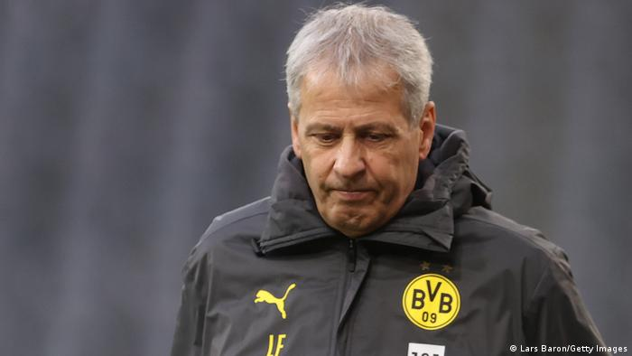 Lucien Favre in a jacket
