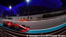 Ferrari's German driver Sebastian Vettel drives during the Abu Dhabi Formula One Grand Prix at the Yas Marina Circuit in the Emirati city of Abu Dhabi on December 13, 2020. (Photo by Giuseppe CACACE / POOL / AFP) (Photo by GIUSEPPE CACACE/POOL/AFP via Getty Images)