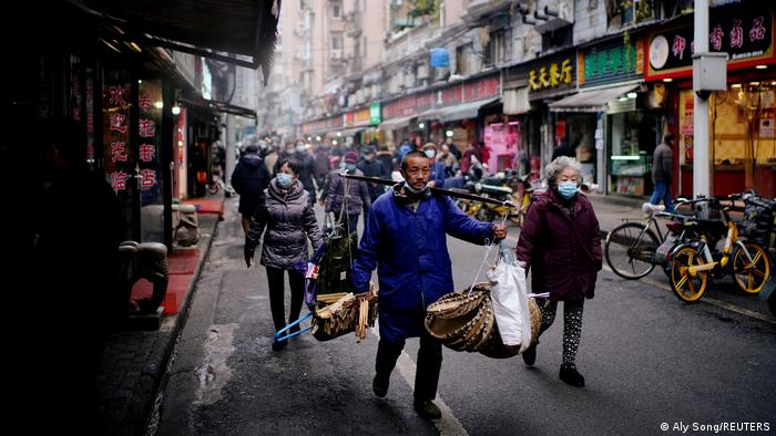 A street view of Wuhan