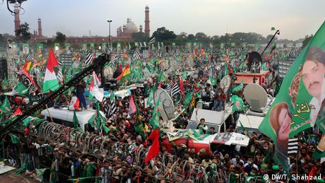 Opposition protest in Lahore, Pakistan in December 2020