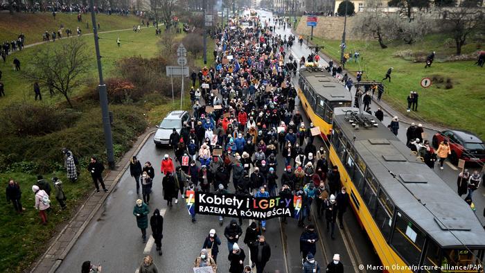 Акція протесту в Варшаві