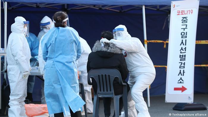 Südkorea Coronavirus Test