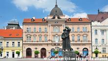 Grand Hotel Majer (Vojvodjanska Banka) on the central square in Novi Sad Serbia