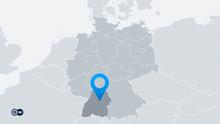 Karte Deutschland Bundesland Baden-Württemberg