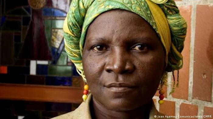 Virgelina Chará, artista y activista colombiana por los derechos humanos.