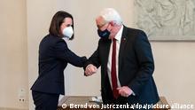 Deutschland Berlin | Besuch beim Bundespräsident | Swetlana Tichanowskaja